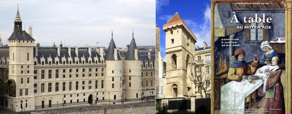La Conciergerie, tour de l'Horloge, d'Argent et César vues des toits du Théatre de la ville